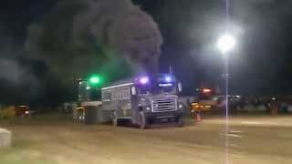 Bus Pulling in Richland Center, WI