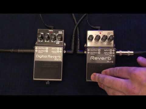 Boss RV-5 Vs RV-6 Reverb Pedal Demo/Comparison - Modulate Mode Comparison