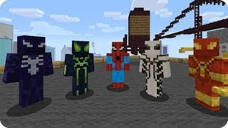 Download Custom Spiderman Minecraft Skin Videos Dcyoutube - Skins para minecraft pe de spiderman