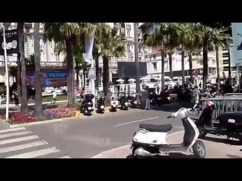 Apercu de la croisette durant le festival de Cannes en Solowheel