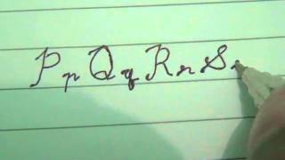 cara menulis tulisan bersambung (p - u)