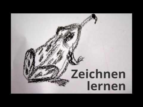 Frosch malen lernen - How to draw a Frog - как нарисовать ...