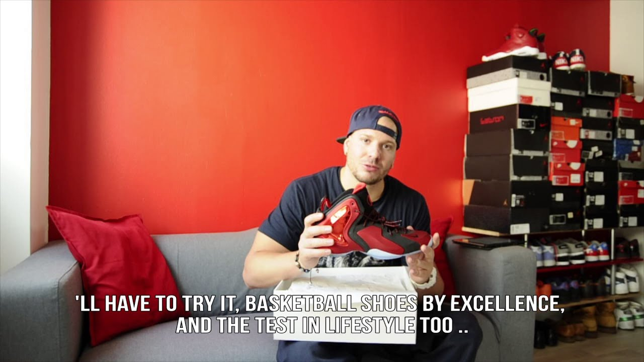 NIKE LIL PENNY POSITE UNIVERSITY RED BLACK ON FEET REVIEW UNBOXING - French  - YouTube