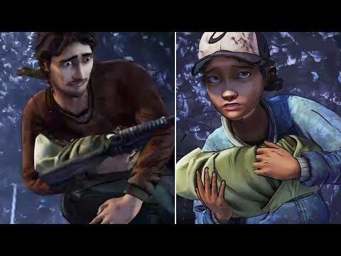 Luke Saving AJ vs Clem Saving AJ -All Choices- The Walking Dead