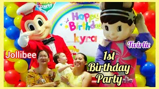 Jollibee Birthday Party For Our Kyra Riane's 1st Birthday!