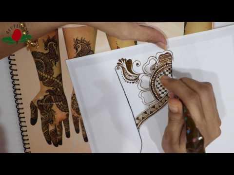 Tutorial 36 : Mehendi creations from Bhavini Geravara's reference design Hindi