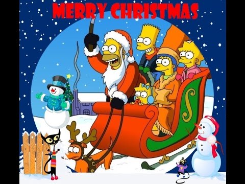 Christmas Simpsons.Merry Christmas From The Simpsons