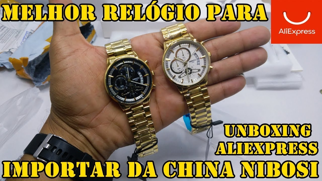 Unboxing Relógio Nibosi 2309 comprado no aliexpress