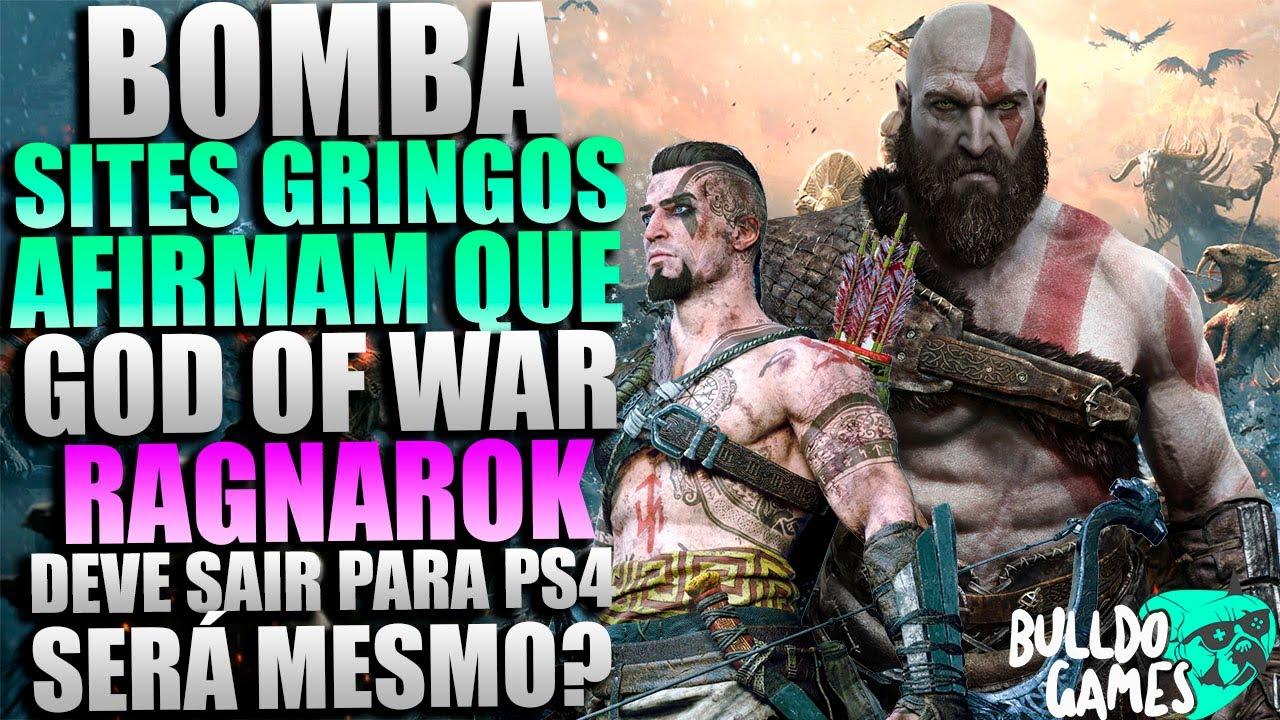 BOMBA, Sites GRINGOS AFIRMAM Que God Of War RAGNAROK Vai Sair TAMBÉM Para O PS4! Será Mesmo?