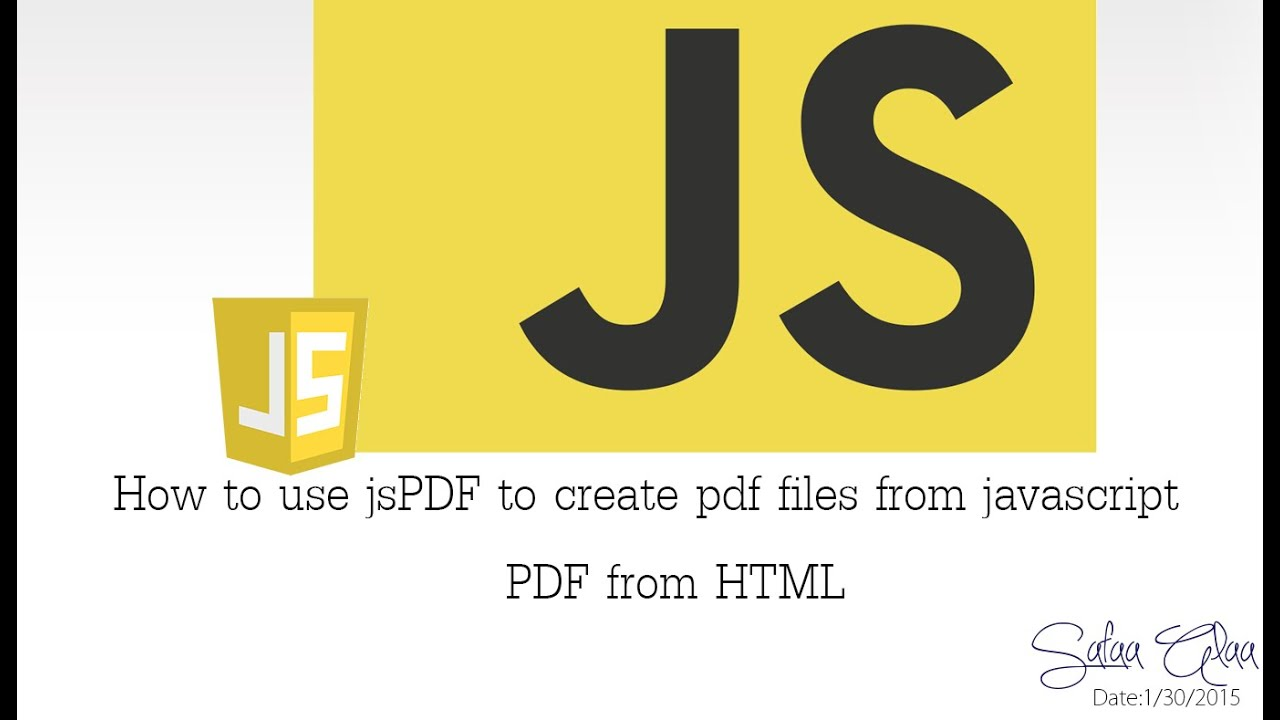 Episode 5 How To Use Jspdf To Create Pdf File Using Javascript