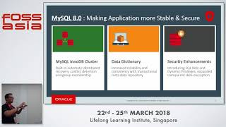 Breaking through with MySQL 8.0 - Ricky Setyawan - FOSSASIA 2018