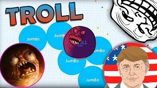 Agar.io - HOW TO GET BIG FAST  (TROLLING IN AGARIO)
