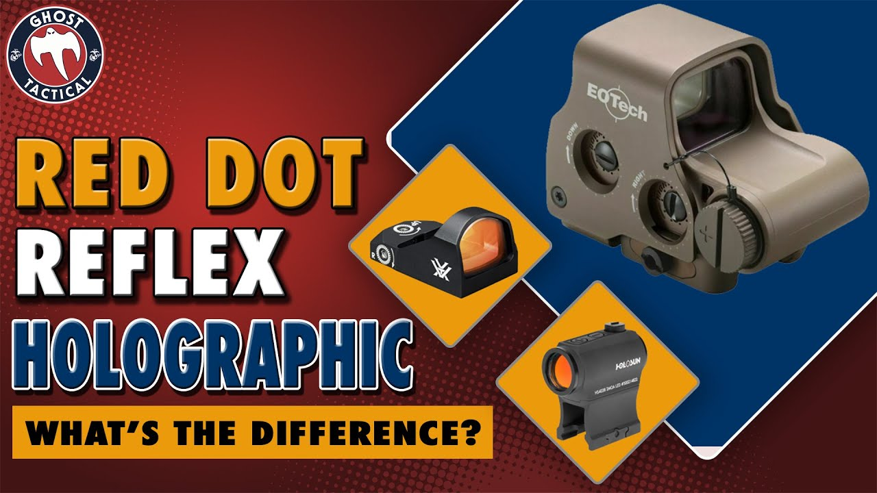 RED DOT vs REFLEX vs HOLOGRAPHIC SIGHTS:  Whats The Difference?