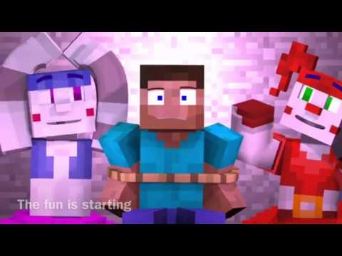 """Minecraft Sister Location """"Join us for a bite"""" song by JT Machinima Animation by Enchantedmob Lyrics"""