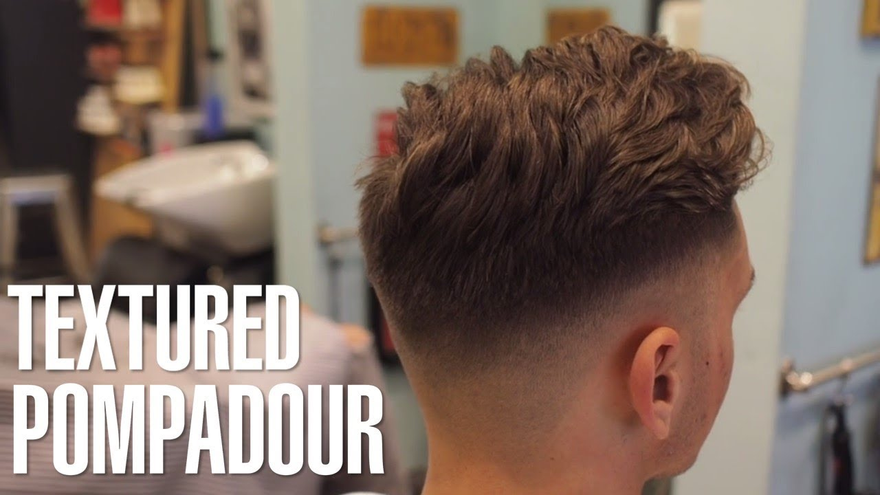 How to Style: Messy Pompadour with Skin Fade Haircut ...