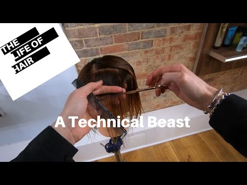 Vidal Sassoon Beret Hair Cut Horizontal And Vertical  Graduations This Has It All