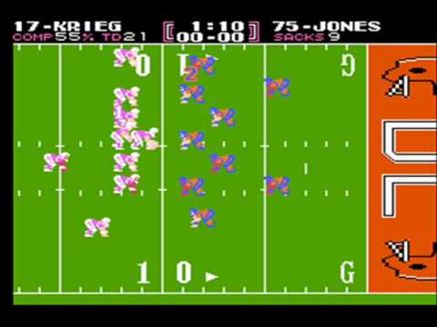 Tecmo Bowl - Steve Largent's revenge against Mike Harden
