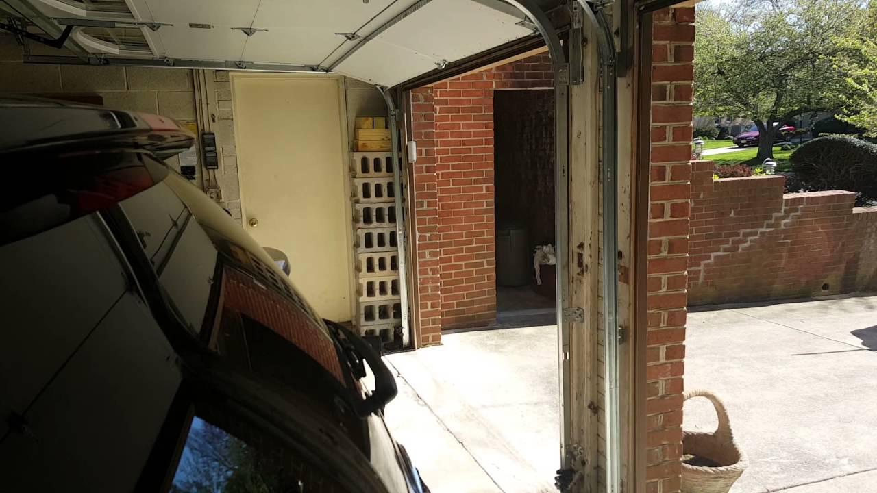 Very Nice Garage Door Got Hit By A Car Youtube