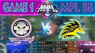 EXECRATION vs ONIC - GAME 1 | MPL PH Season 5
