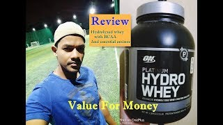 Optimum Nutrition Hydro whey unboxing and review   Hydrolyzed Whey with BCAA  Ultimate quality whey