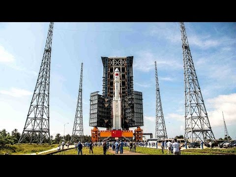 Exclusive time-lapse clip: Tianzhou-1 and carrier rocket transported to launch pad