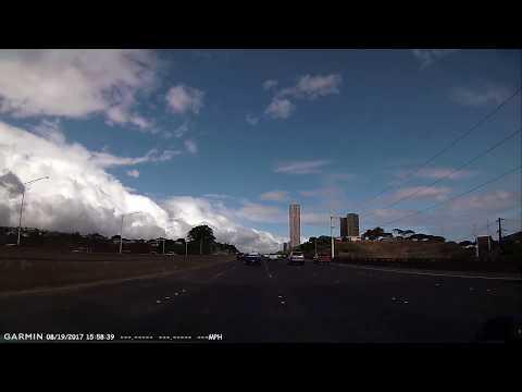 Traffic Hazard H1E Pearl City DASHCAM HAWAII