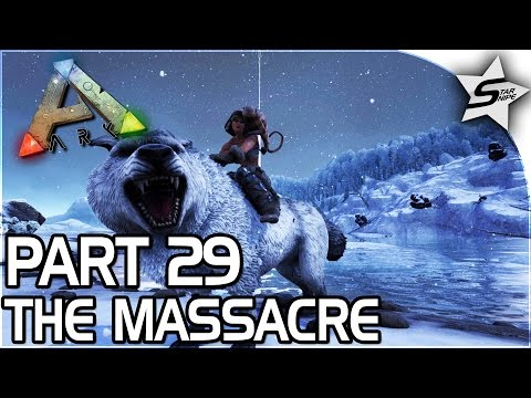 SAVING OUR STRONGEST DINO, The Massacre... - ARK Survival Ev