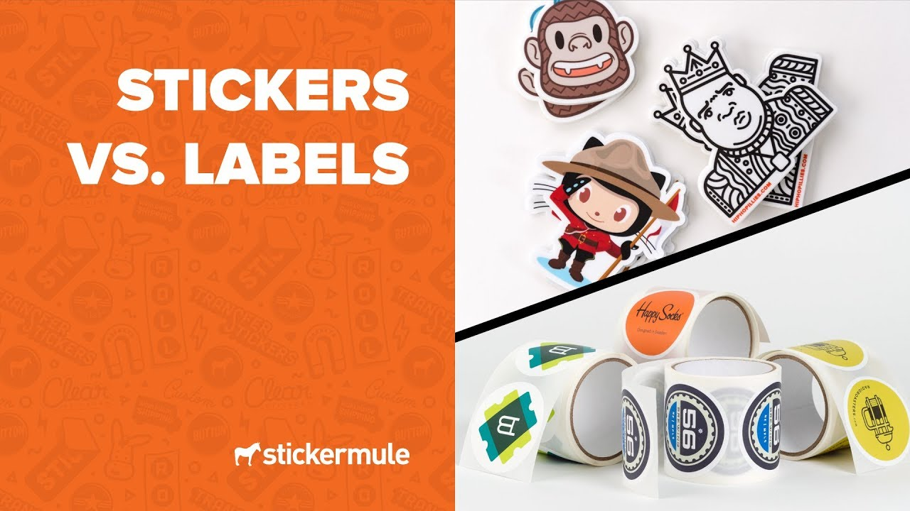 stickers vs labels what\u0027s the difference?