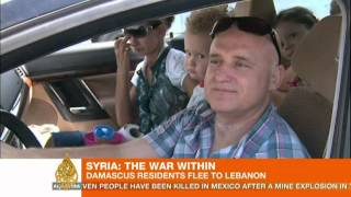 Damascenes flee to neighbouring Lebanon