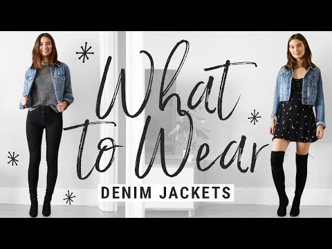 how to style DENIM JACKETS!  WHAT TO WEAR with denim jackets this fall!