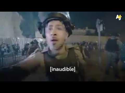 Zionist fight Palestine People in Jerusalem,