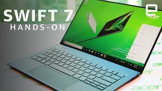 Acer Swift 7 Hands-On: Minimal bezels, under two pounds, a high price tag at CES 2019
