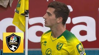 Kenny McLean heads home to put Norwich in front v. Manchester City | Premier League | NBC Sports