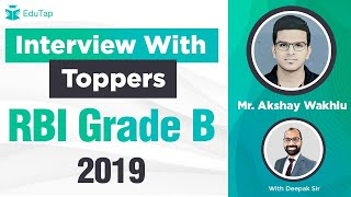 Mr Akshay Wakhlu | RBI Grade B 2019 | Interview with Toppers Series