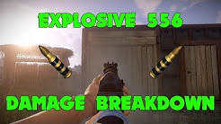 Rust - Explosive 556 Damage Breakdown