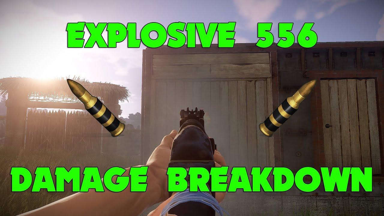 Rust - Explosive 556 Damage Breakdown
