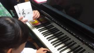 音符カードを見て場所を当てる訓練です。 ・内藤ピアノ教室 http://ameb...