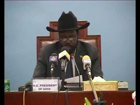 NetworkNewsToday: SOUTHERN SUDAN PRESIDENT SALVA KIIR on ELECTION REFERENDUM BILL (UNMIS)
