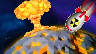 Destroying The Moon With A 200 MEGATON NUKE in Astroneer