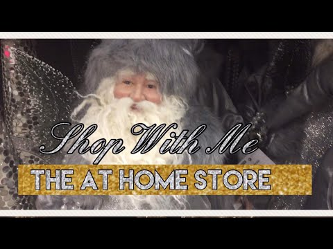 The AT HOME store Shop With Me | Christmas Decor | Part 1••