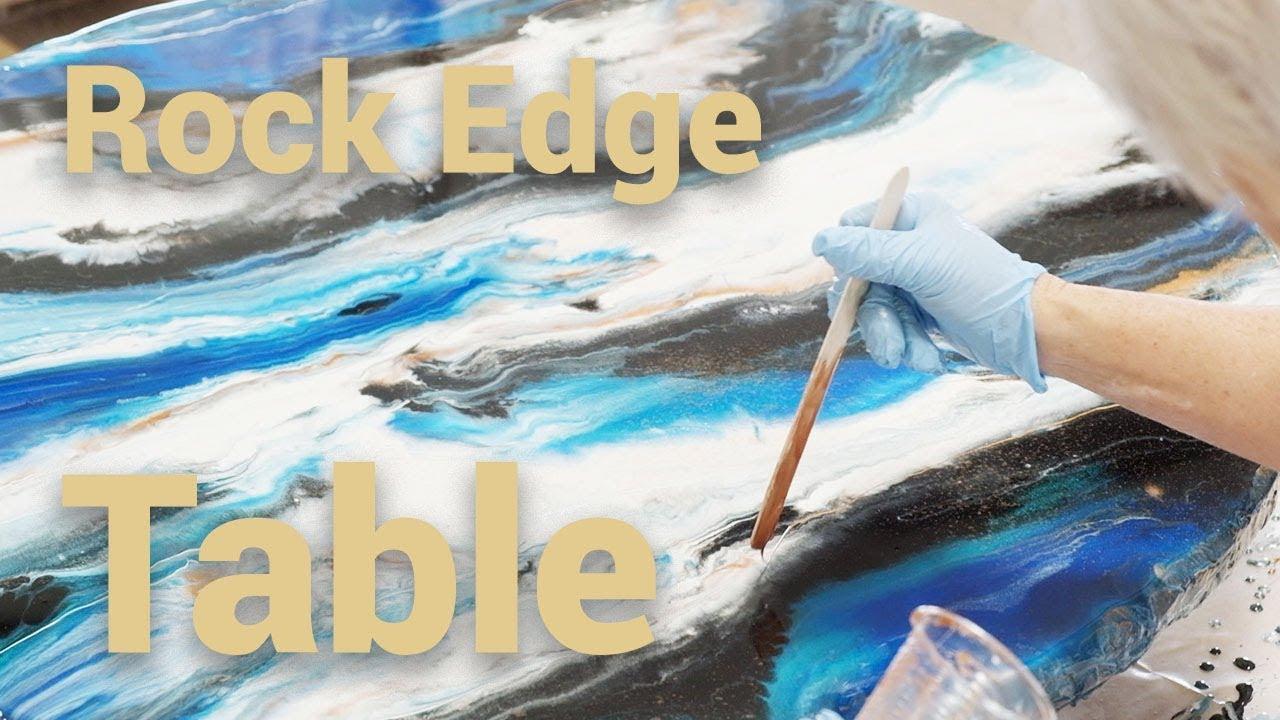 Stone Coat Epoxy Tutorial: Rock Edge Round Table