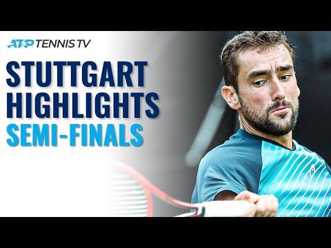 Auger-Aliassime vs Querrey; Cilic vs Rodionov   Stuttgart 2021 Semi-Final Highlights