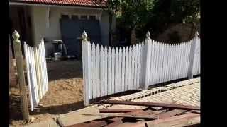 Picket Fence - White Windsor Picket, Claremont, Perth