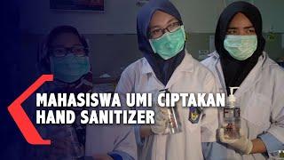 Makassar, kompas.tv - mahasiswa teknik kimia, fakultas teknologi industri, universitas muslim indonesia, sulawesi selatan membuat hand sanitizer at...