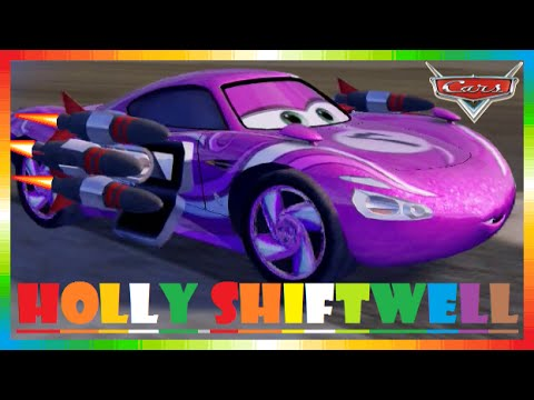 CARS 2 - Holly Shiftwell ( Disney Game Race Movies + Lightning McQueen + Mater + Finn McMissile )