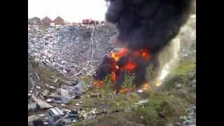 Пожар около Чабаненко (Североморск)