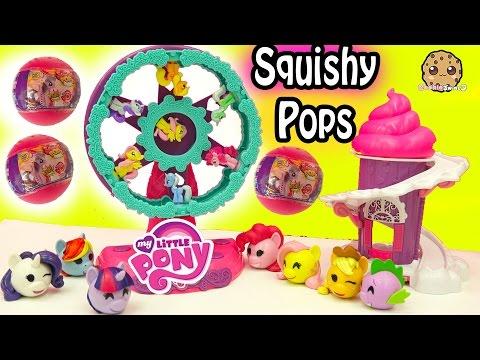 Squishy Cake Pop : MLPS Squishy Pops My Little Pony Ferris Wheel Display Set & Surprise Blind Bag Balls - C??????? ...