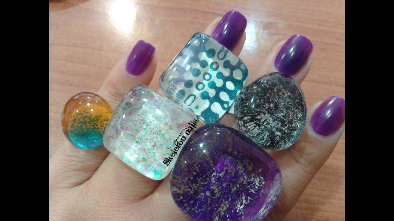 DIY: Crea tus anillos con laca de uñas/Create your rings with nail ...