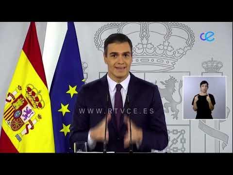Pedro Sánchez pide disciplina y unidad para contener y vencer al virus
