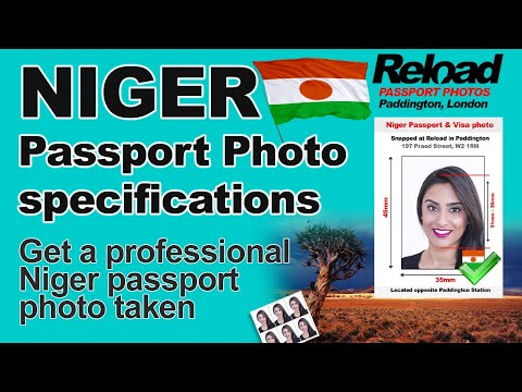 Niger Passport Photo and Visa Photo snapped in Paddington, London